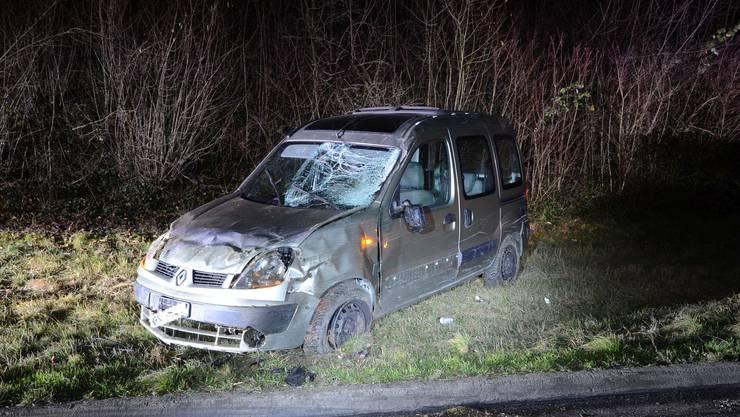 Ein betrunkener Autofahrer verursachte auf der Autobahn A18 einen Unfall.