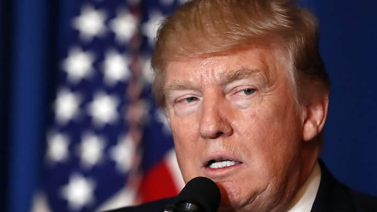 Rede an die Nation: US-Präsident Donald Trump spricht über die von ihm angeordneten Luftschläge gegen eine Luftwaffenbasis in Syrien.