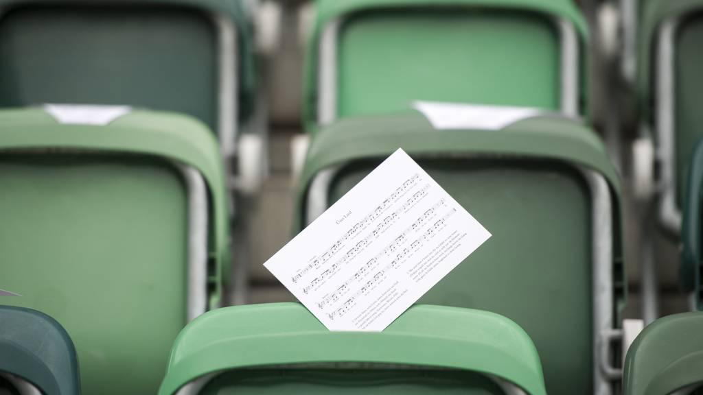 Sollte zum Mitsingen anregen - die FCSG-Fanhymne «Üses Lied». Die Zukunft des Songs ist aber ungewiss.