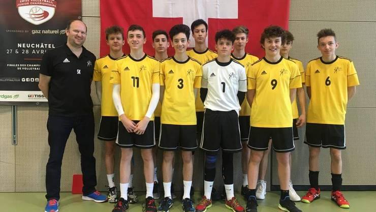 U17-Team von Volley Schönenwerd auf dem 5. Platz