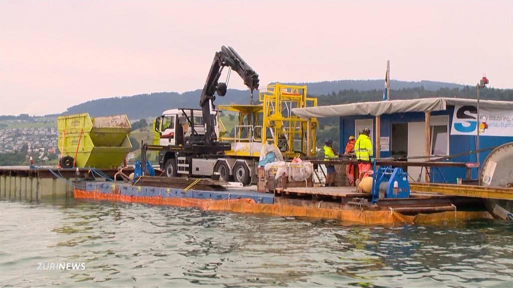 48-Tonnen-Stromkabel werden im Zürichsee ersetzt