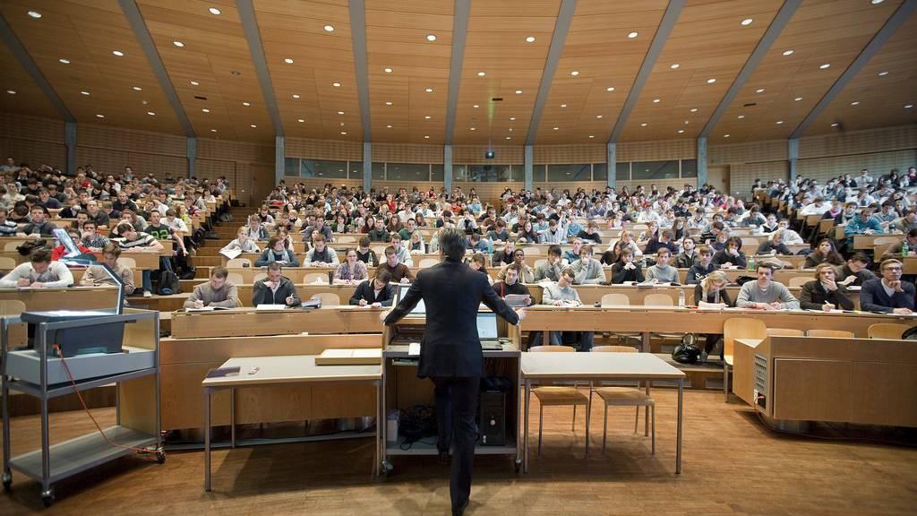 Blick ins Audimax der Universität St.Gallen.