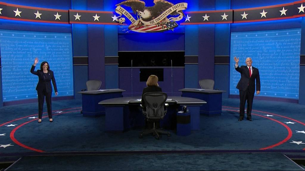 Die Vize-Debatte der US-Wahlen: Harris, Pence und eine Fliege