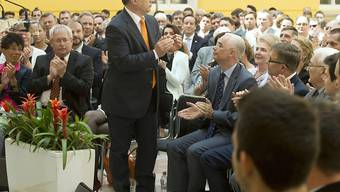 """Erklärt Jobbik zur """"führenden Oppositionspartei"""": Ungarns Premier Viktor Orban in Budapest"""