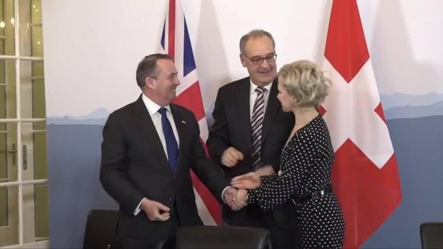 Brexit: Schweiz unterzeichnet Handelsabkommen