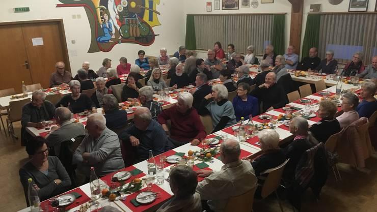 68 Senioren und Seniorinnen erschienen zur Feier