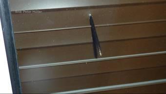 Im Mai schoss ein Unbekannter mit einer Armbrust auf ein Haus und traf beinahe einen Menschen. Der Täter wurde bis heute nicht gefasst.
