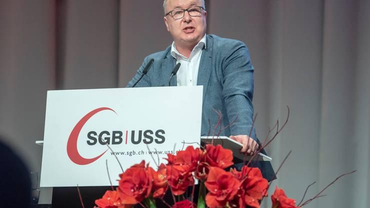 Pierre-Yves Maillard, Präsident des Schweizerischen Gewerkschaftsbunds und SP-Nationalrat, fordert eine Stärkung des Service public.