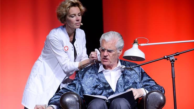Lesung mit Sky du Mont und Christine Schütze im Parktheater Grenchen.