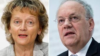 Bundesrätin Eveline Widmer-Schlumpf spricht in Titterten, Bundesrat Johann Schneider- Ammann in Allschwil.