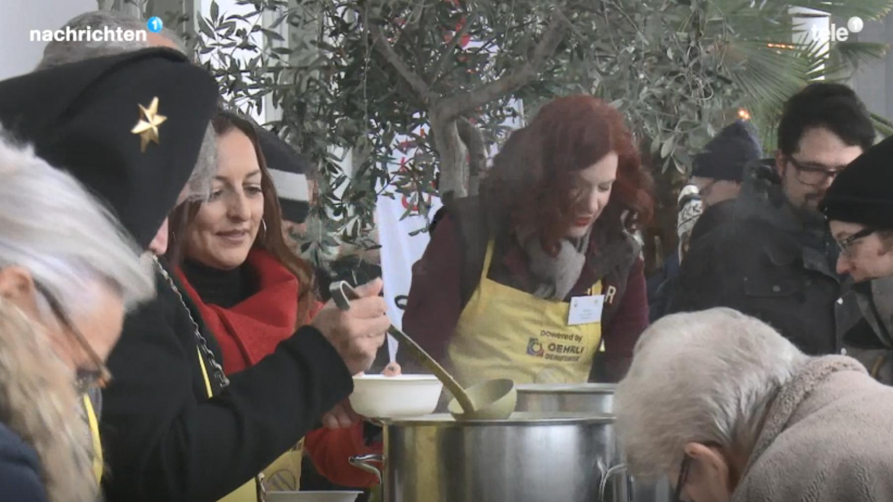 Nationaler Suppentag mit Promis im Einsatz