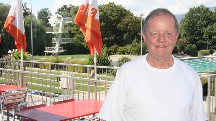 Ernst Schär freut sich auf die nächste Badesaison, wenn er selber Badi-Gast sein kann.