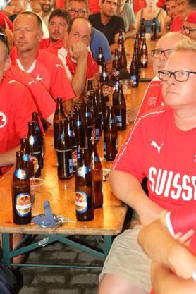 Einige Fans waren durstig.