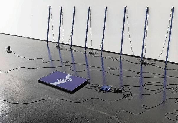 Hommage an eine Spinne: Installation von Lea Schaffner.
