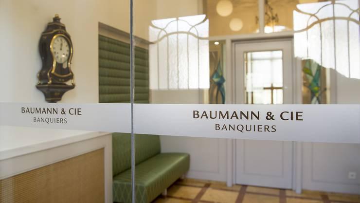 Die Bank Baumann und Cie in Basel.