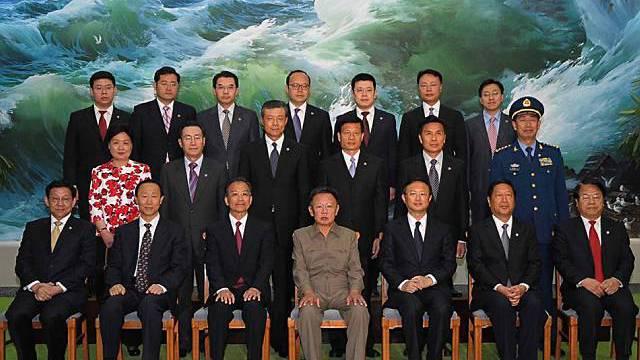 Gruppenbild während Besuch von Wen Jiabao