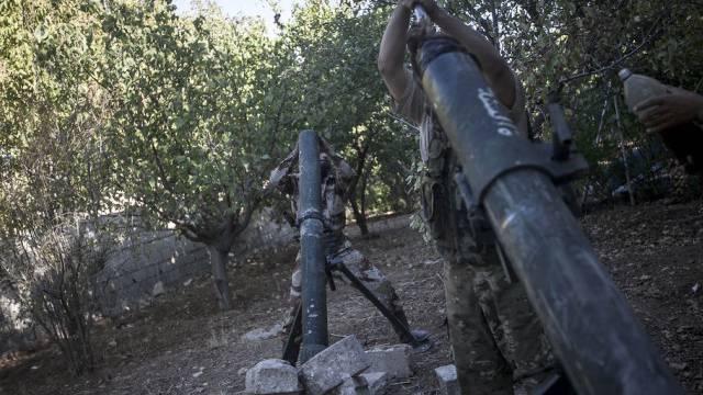 Kämpfe beim Stützpunkt Wadi Daif in der Idlib-Provinz (Symbolbild)
