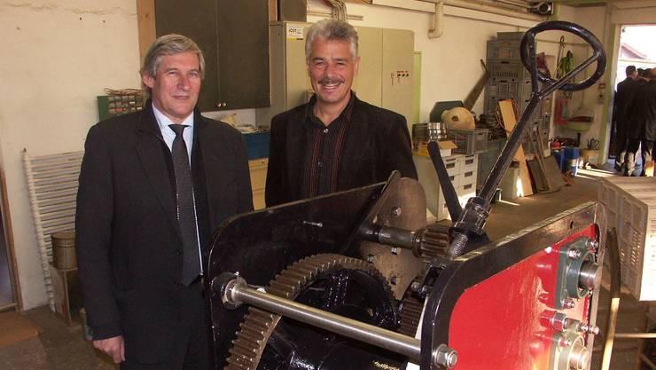 Hans-Rudolf Wyss (links) und «Neuhof»-Gesamtleiter Jörg Scheibler.  MW