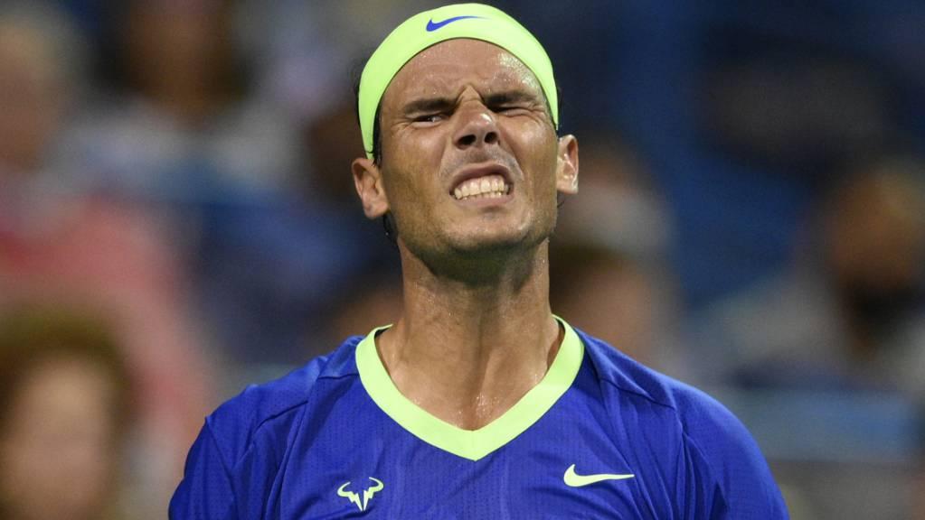 Rafael Nadal schlägt sich mit einer Fussverletzung herum.