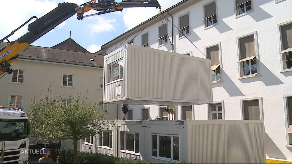 Ohne Baubewilligung: Kanton Solothurn bestellt Container für Kantonsangestellte