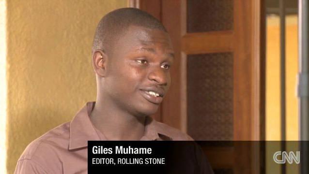 Journalist Giles Muhame ruft zum Lynchmord auf und vergleicht Homosexualität mit einem Virus. Foto: CNN