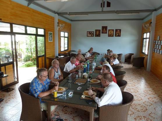 Gemeinsame Mahlzeit in der Residenz
