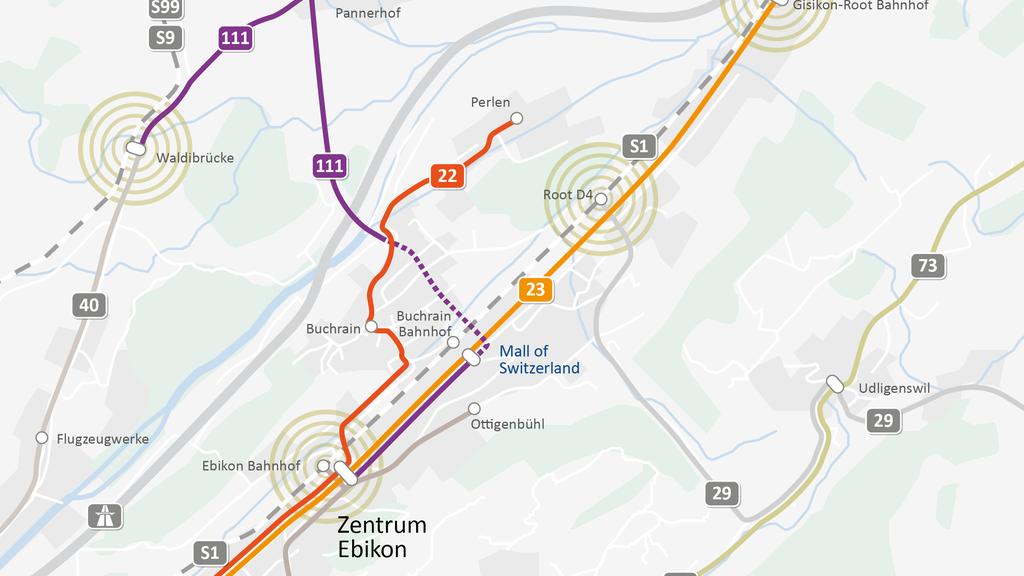 Neue Buslinie von Ebikon nach Waldibrücke