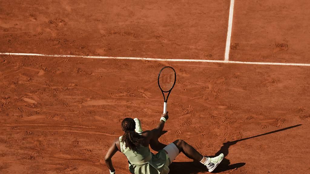 Ins Straucheln gekommen: Serena Williams schied am French Open im Achtelfinal aus