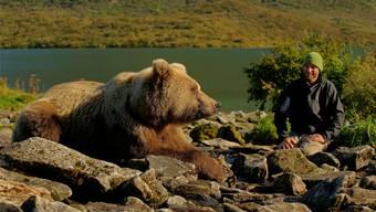 Über die Jahre wächst das Vertrauen: Die Bären, die er schon länger kennt, nähern sich David Bittner bis auf wenige Meter – wie hier Luunie.