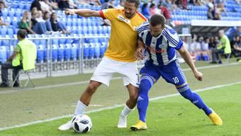 Es war ein spezielles Spiel, das Congeli – hier mit Edon Basha – gegen den FC Zürich spielen durfte.