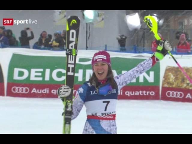 Wendy Holdener gewinnt Gold in der Frauen-Kombi St.Moritz 2017