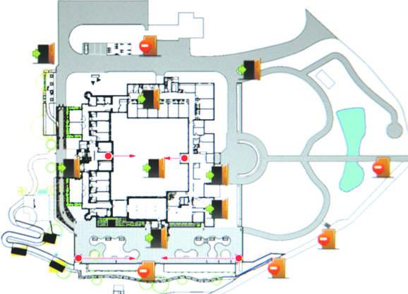 Für jeden Bewohner kann festgelegt werden, welche Bereiche er im «Sennhof» passieren darf oder nicht. Bei «Rot» wird Alarm ausgelöst.  ZVG