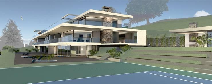 Visualisierungsbild der möglichen Federer-Villa in Herrliberg: Sie hat sicher auch Platz für ein drittes Kind.