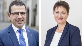 FDP-Präsident Matthias Jauslin und SVP-Kandidatin Franziska Roth: Erst verschmähte die FDP Roth, nun könnte sie zur Königsmacherin werden.
