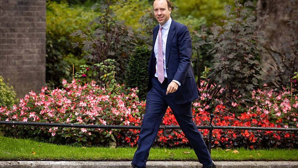 Großbritanniens Gesundheitsminister Matt Hancock. Foto: Aaron Chown/PA Wire/dpa