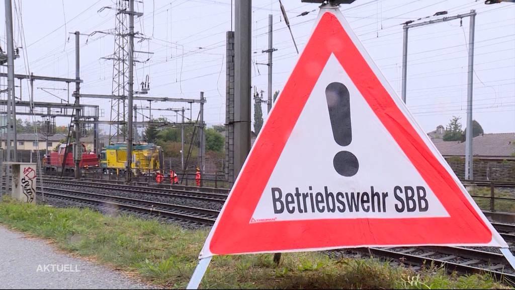 Nach Bagger-Unfall: Erneute Panne bei SBB-Bauarbeiten