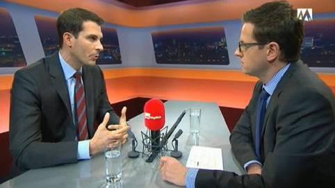 Thierry Burkart im Talk täglich bei az-Chefredaktor Christian Dorer.