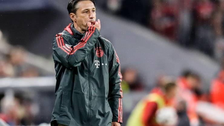 Bayerns neuer Cheftrainer Niko Kovac war schon im ersten Meisterschaftsspiel gefordert