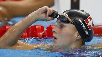 Schweizer Rekord mit der Schweizer Lagen-Staffel: Schwimmerin Sasha Touretski
