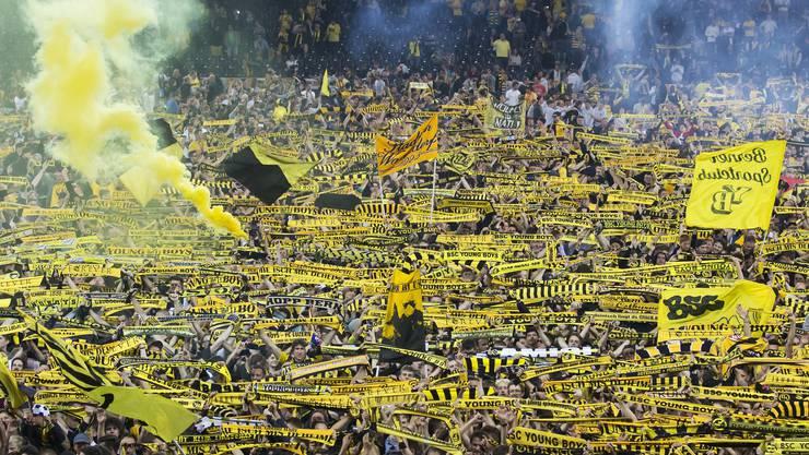 Berner Fans feiern 2018 den Meistertitel der Young Boys.