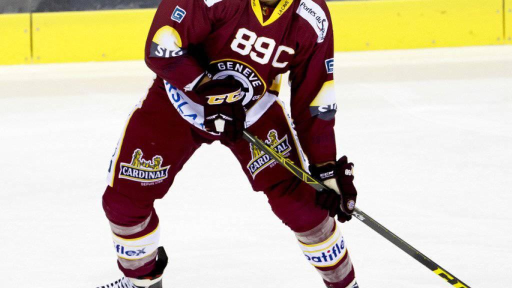 Wird wie Jeremy Wick dem Genève-Servette HC im nächsten Spiel gegen Kloten wegen einer Sperre fehlen: Cody Almond