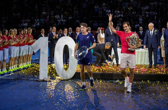 Im Herbst 2019 gewann Roger Federer in Basel seinen 103. und bislang letzten Titel. Es war auch sein zehnter Erfolg beim Heimturnier.