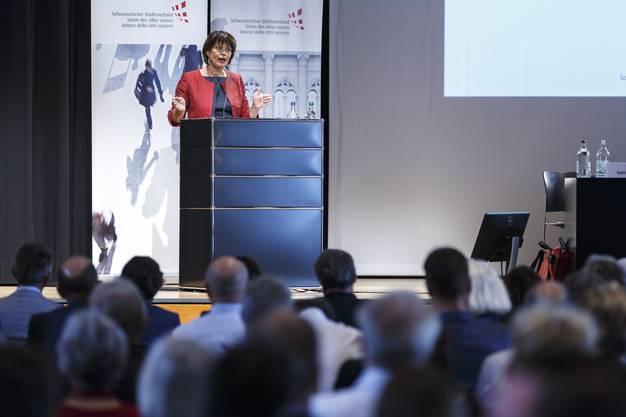Bundesrätin Doris Leuthard widmete sich den «Smart Cities» der Zukunft