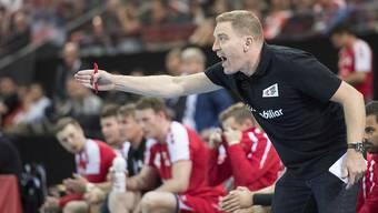 Handball-Nationaltrainer Michael Suter wie man ihn kennt: mit vollem Einsatz