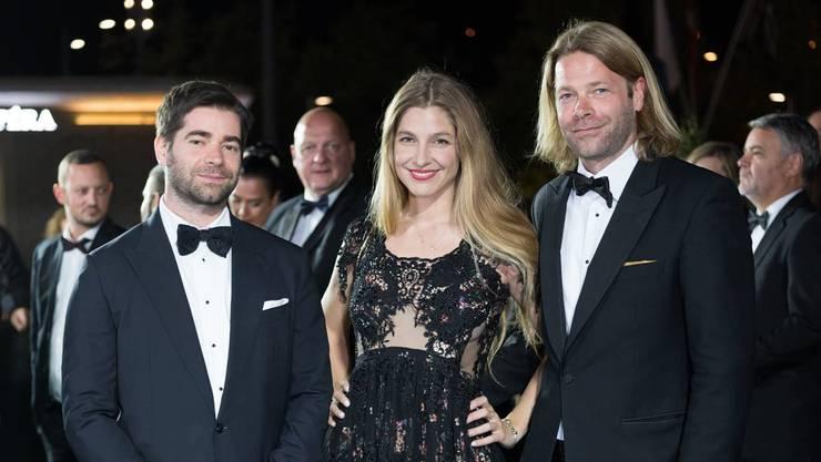 Lionel, Nora und Diego Baldenweg (v.l.) am Zürich Film Festival. Derzeit ist die Musik der Geschwister im Film «Die letzte Pointe» von Rolf Lyssy zu hören.