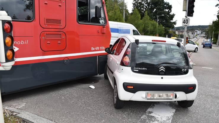 Unfall zwischen einem Auto und dem Bipperlisi am 31.August 2020.