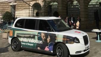 Der «London Cab» der Schweizer Botschaft im Vereinigten Königreich wirbt aktuell für die Ausstellung des Lausanner Künstlers Félix Vallotton in der Royal Academy of Arts.