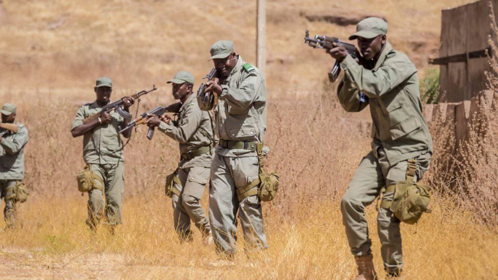 Malische Rekruten beim Training in Koulikoro. (Archivbild)