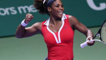 Serena Williams in Jubelpose nach dem gewonnenen Final