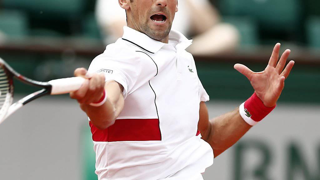 Novak Djokovic kam sicher in die 2. Runde
